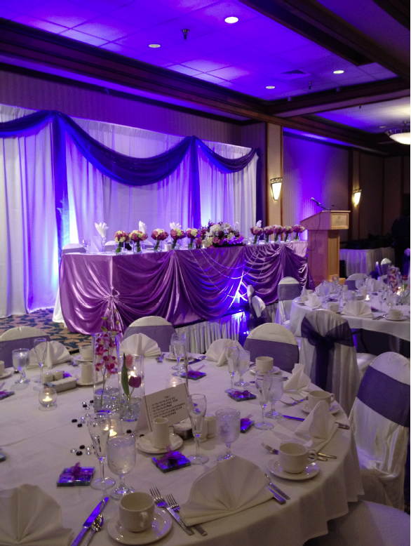 Chair Cover And Head Table Decorations